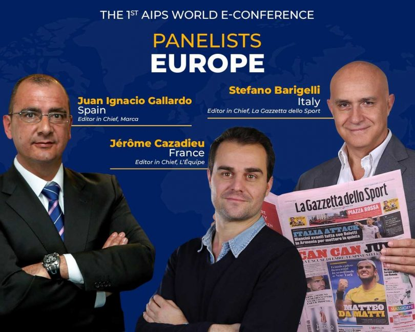 Editors-in-Chief from European sports press giants on virtual stage on July 2